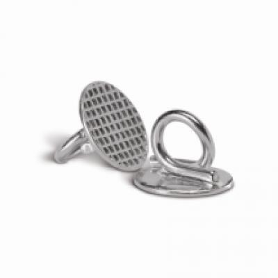 Лингвальная кнопка металлическая с ушком