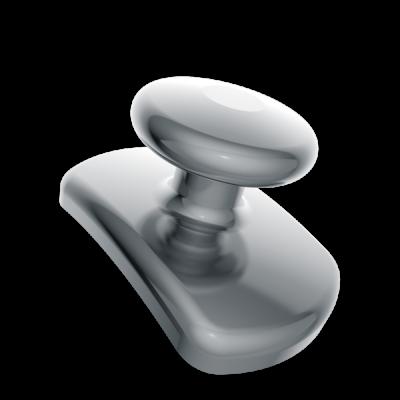 Лингвальная кнопка металлическая овальная