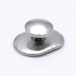 Лингвальная  металлическая кнопка овальный базис 1шт.