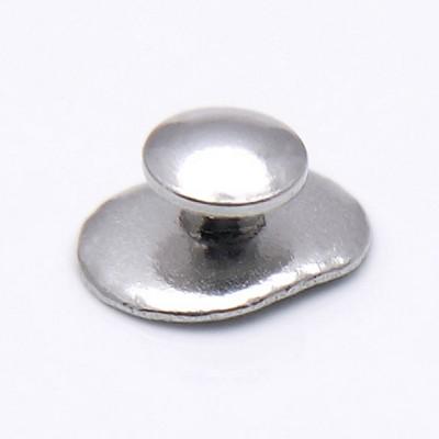 Лингвальная  металлическая кнопка овальный базис